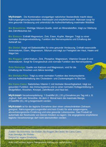 DOCVITA MykoSan Fit & Vital: Die Kombination einzigartiger Bestandteile macht diese Nahrungsergänzung besonders interessant und empfehlenswert. MykoSan sorgt für eine gesunde Verdauung und unterstützt die Aufrechterhaltung maximaler Mobilität.